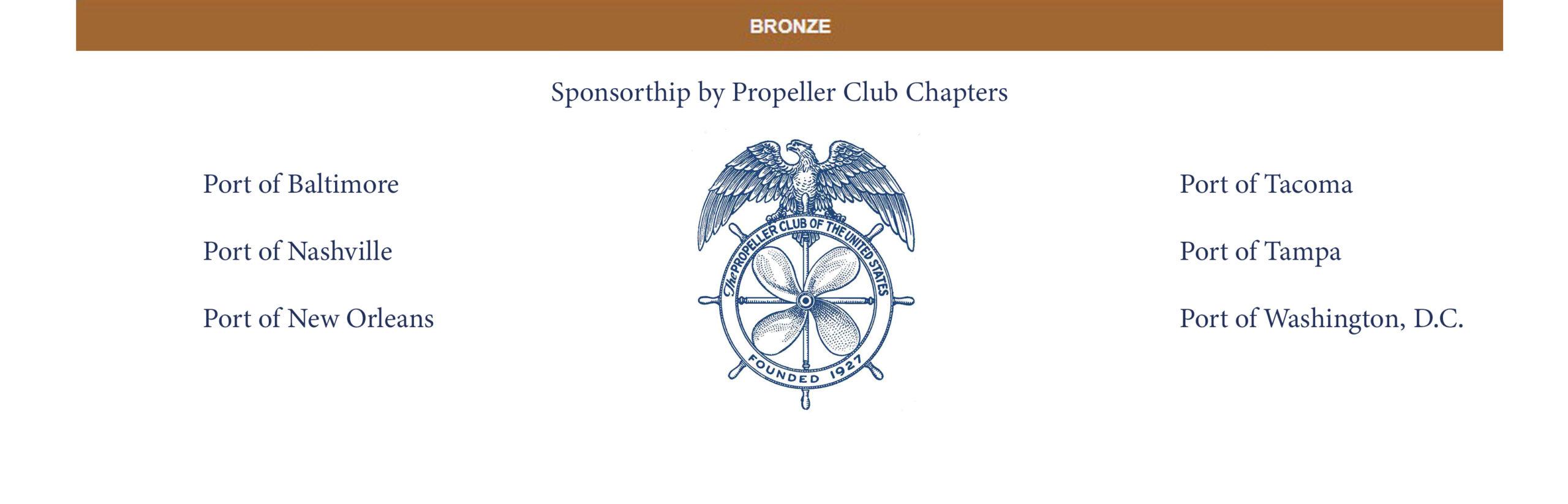 Bronze Sponsors - 2020